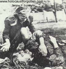 Polish Girl  Kneeling Over Dead Body